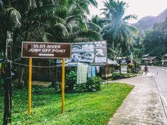 Ulot River Jump off Point road sign Extreme Boats, Natural Park, Samar, Sign, River, Vacation, Adventure, Nature, Vacations