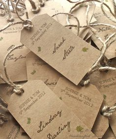 Kraft Placeholder Cards for Wishing Tree