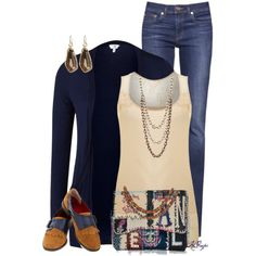 Casual in Navy and Cream Contest, created by kginger on Polyvore
