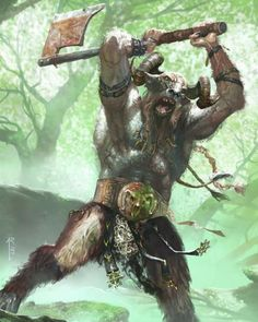 A savage Gor, the most common of the Beastmen breeds