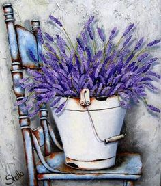 ourcraftaddictions lavender painting vintage diamond shabby rustic drills seller drill round chair chic full vintage US Seller Shabby Chic Lavender Vintage Chair Rustic Diamond Painting Kit Round DYou can find Lavender and more on our website Painting & Drawing, Watercolor Paintings, Stella Art, Lavender Crafts, Lavender Cottage, Summer Painting, Vintage Diy, Shabby Vintage, Vintage Flowers