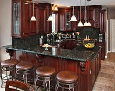Cherry Kitchen Cabinets Black Granite burgundy kitchen cabinets | house decor | pinterest | kitchens