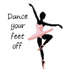 Dance Your Feet Off in Pink Wall Art Cross Stitch Pattern Cross Stitch Music, Cross Stitch Love, Cross Stitching, Cross Stitch Embroidery, Cross Stitch Patterns, Little Girl Ballerina, Granny Square Projects, Pink Wall Art, Crochet Cross