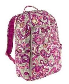 Vera Bradley Backpack Paisley Meets Plaid  (her favorite pattern)
