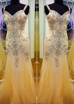 Straps Crystals Zipper Satin Sheath Organza Sleeveless Floor Length Ruched Homecoming / Prom Dresses