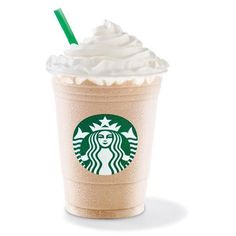 White Chocolate Frappuccino ❤ liked on Polyvore featuring food, drinks, starbucks, food and drink and fillers
