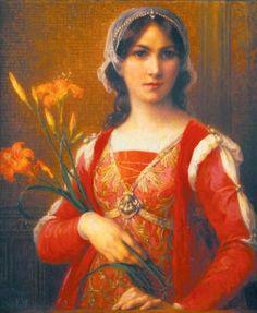 Elisabeth Sonrel, Portrait de jeune femme aux lilas