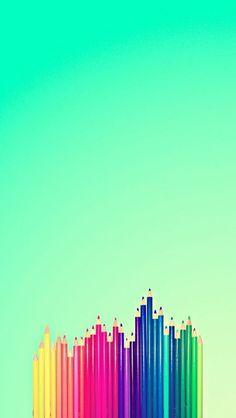 [おしゃれカラーシリーズ]色鉛筆iPhone壁紙 iPhone 5/5S 6/6S PLUS SE Wallpaper Background