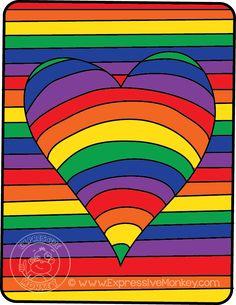 Op Art Hearts Color Study by Expressive Monkey.  Color Spectrum
