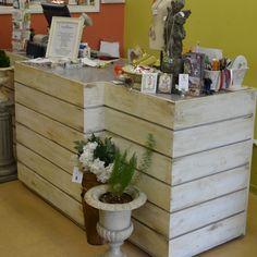 Cash Wrap/Desk Steel and wood