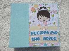 6x6 Bridal Shower Recipe Book by SimplyMemories on Etsy.  Great wedding shower gift