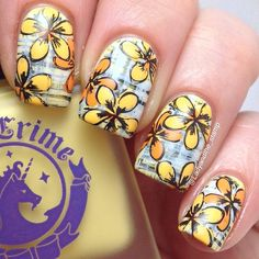 Nail art with MoYou London Tropical 04