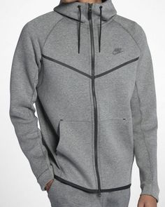 ebc434ead21d22 Nike Tech Fleece Windrunner Hoodie Jacket Mens L Heather Grey Carbon 805144  091  Nike  Hoodie
