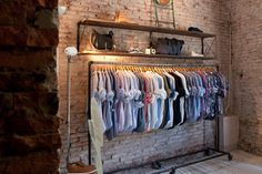love an open clothes rack for the bedroom