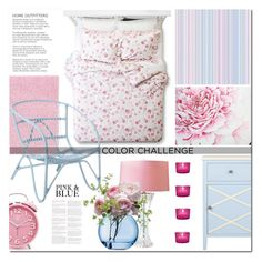 """Color Challenge: Pink and Blue"" by drn57 ❤ liked on Polyvore featuring interior, interiors, interior design, home, home decor, interior decorating, Nourison, Shabby Chic, Safavieh and Cultural Intrigue"