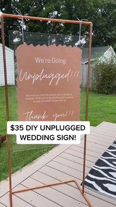 Fall Wedding, Rustic Wedding, Our Wedding, Dream Wedding, Unplugged Wedding Sign, Video Backdrops, Ceremony Signs, Wedding Signage, Freundlich