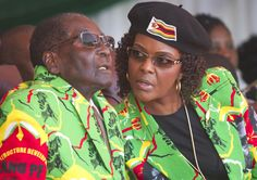 Zimbabwe blocks South African Airways flights over first lady Mugabe's assault row Zimbabwean President Robert Mugabe, left, and his wife Grace. First Ladies, End Of An Era, Gucci, Accusations, Twenty One, American Women, Ny Times, The Twenties, Husband