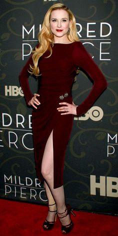 Evan Rachel Wood in Elie Saab dress - At the Mildred Pierce premiere.