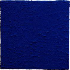 Yves Klein, monochrome blues , 1957-1961