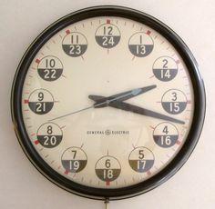 // vintage GE wall clock