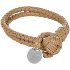 Bottega Veneta Intrecciato Nappa Bracelet Camel in beige, Jewellery ($245) ❤ liked on Polyvore featuring jewelry, bracelets, beige, bottega veneta and bottega veneta jewelry