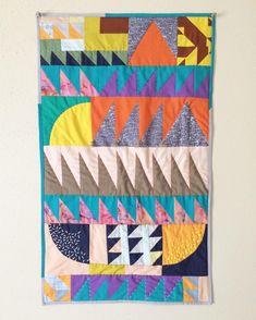 """Sesame Quilt"", 17x29"", 2016 Lorena Marañon"
