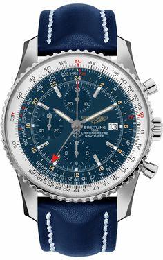 Breitling Navitimer World GMT Men's Watch Breitling Watches, Men's Watches, Sport Watches, Cool Watches, Fashion Watches, Watches Online, Men's Fashion, Mens Designer Watches, Mens Watches For Sale