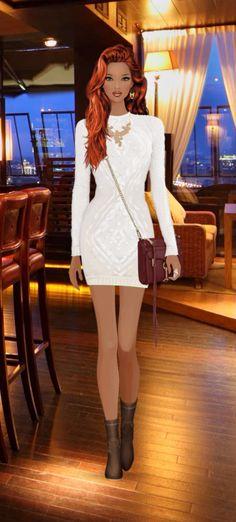 Fashion Game Virtual Fashion, Covet Fashion Games, Short Dresses, Formal Dresses, Fashion Dolls, Persona, Skater Skirt, Peplum Dress, Barbie