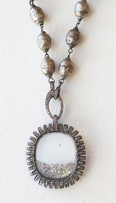 Diamond Shaker on Ethiopian Bead Necklace