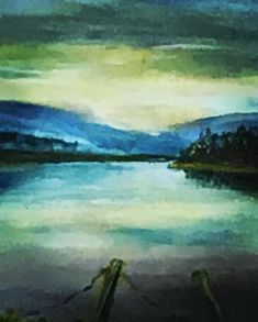 Cool colors of the winter lake. Scene, Cool Stuff, Colors, Winter, Artwork, Artist, Painting, Cool Things, Winter Time