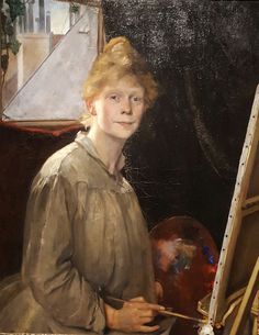 Self-Portrait (1889). Mina Carlson-Bredberg (Swedish, 1857-1943). Carlson-Bredberg began as a student of Kerstin Cardon and Amanda Sidvall in Stockholm and then continued her studies at the Académie...