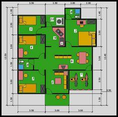 14 denah rumah minimalis modern 2 lantai