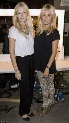 Sienna and Savannah Miller at london fashion week for their Twenty8twelve show
