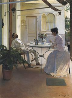 Interior al aire libre, 1892, Ramón Casas