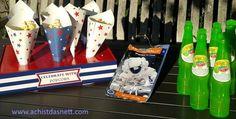 Echte Astronauten-Nahrung und viele weitere Ideen wie Space-Shuttle Kuchen, Alien- Muffins und Spiele-Ideen für den Weltraum-Geburtstag findest Du auf http://www.achistdasnett.com/motto-geburtstage