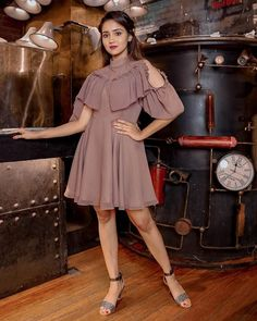 Image may contain: one or more people and people standing Girl Photo Poses, Girl Poses, World's Cutest Girl, Girls Frock Design, Frocks For Girls, Clothing Photography, Indian Celebrities, Stylish Girl, Girl Pictures