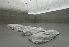 "Maurizio Cattelan. ""All"" 2007 white marble of Carrara"