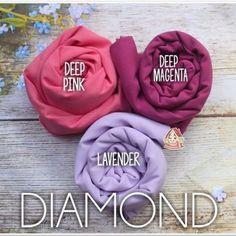 Pashmina Instan Diamond Italiano georgette / square diamond italiano / khimar di Carousell Color Box, Magenta, Fabrics, Colours, Diamond, Pink, Italia, Tejidos, Diamonds