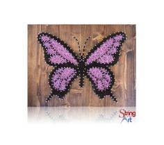 DIY String Art Kit - Butterfly, String Art Butterfly, DIY Kit, Crafts Kit, Gift Ideas, Butterfly Decor, Home Decor, includes all supplies