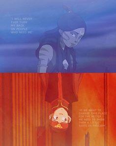 lokairbender:Katara and Aang