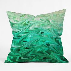 Lisa Argyropoulos Emerald Sea Throw Pillow | DENY Designs Home Accessories