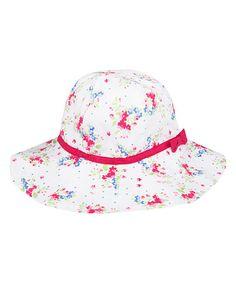 Loving this White Floral Floppy Sun Hat on #zulily! #zulilyfinds