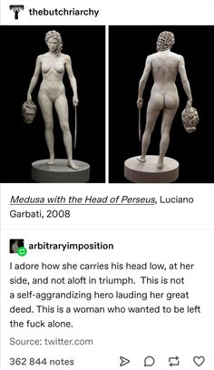 Medusa with the Head of Perseus, Luciano Garbati, 2008 History Facts, Art History, Hades And Persephone, Greek Gods, Gods And Goddesses, Women In History, Ancient Greece, Greek Mythology, Art Plastique