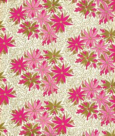 Vintage Christmas wrapping paper. - clusters of flowers with tiny, tiny backdrop.