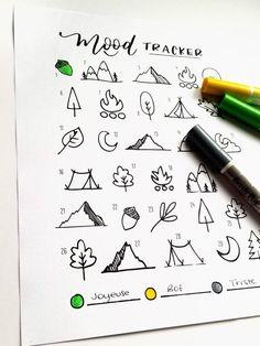 Novembre Bullet Journal imprimable Forêt et Montagne PDF à | Etsy