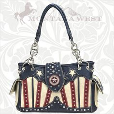 TXW-8085 Montana West Texas Pride Collection Handbag