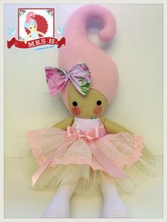"23"" handmade doll with removable deluxe tutuCE marked and suitable for all agesHandwash only"