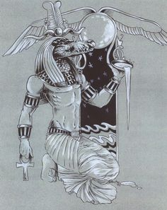 """'Lord Of the Waters' by Hbruton. Sobek is such an interesting God and is a perfect example of the duality of many Egyptian deities. A mix of both positive and negative; protector and destroyer. His  temple is at Kom Ombo. (Originally this city was called 'Nubt', meaning """"City of Gold"""".)"""