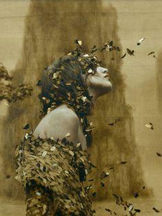 the paintings and artwork of brad kunkle. gold leaf artist and painter brad kunkle. Brad Kunkle, Anne With An E, Fantasy Illustration, Leaf Art, Surreal Art, Dark Art, Bunt, Fantasy Art, Cool Art