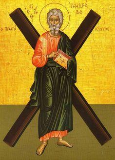 December 13 - Day of memory of the Apostle Saint Andrew the First-Called. Andrew The Apostle, Roi George, Patras, Orthodox Christianity, St Andrews, Orthodox Icons, My Prayer, Saints, Prayers